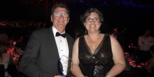 Cruise champion Australasia Jeff Leckey, general manager cruise at House of Travel; and Rising Star New Zealand Charlotte Chalman, House of Travel Lakers Gore were among the 'gongs' at the 19th Annual Cruise Industry Awards in Sydney over the weekend