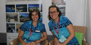 Nasama Resort's operations manager, Aleksandra Tretyak and general manager Mathilde Assouad at Vanuatu's Tok Tok last month