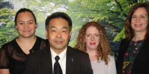 Yoshikazu Kitaguchi, from the Tourism Promotion Strategy Department in Kanazawa; with Georgia Brown and Louise Morrison, both APX; and Joanne Hooper, Active Asia