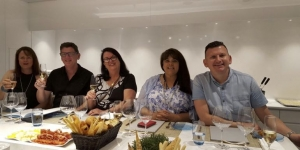 Marisa Plenge, St Ives Travel NSW; Jeff Leskey, HOOT Cruises NZ; Martine Mary Hero, Clean Cruising QLD;  Deb Mondon, Andrew Jones Travel TAS and Byron Bobby Horne, Bicton Travel WA