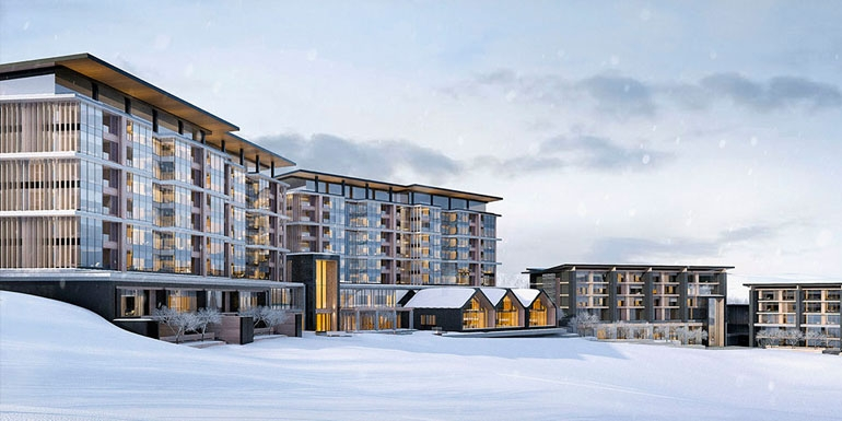 The Park Hyatt Niseko in Hanazono… ski straight to the lifts from the entrance