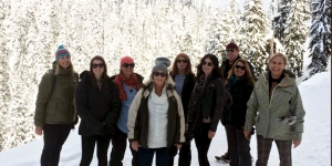 A Grouse Mountain snowshoeing experience… Petra Christie, NZ Travel Brokers; Samantha Moore, travel&co; Rowena Brandeis, The Travel Brokers; Jill Ryan, helloworld; Cindy Palmer, Quay Travel; Jane Samuels, helloworld 5mile; Craig Corbett, Galaxy Travel; Mel Linford, helloworld Rangiora; Catherine Gibson, Air Canada