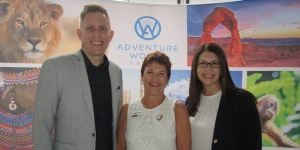 Ben Ittensohn, global head of sales Explore!; Cindy Bakewell, The Private Travel Company; Cherie Bowman, Linblad Expeditions