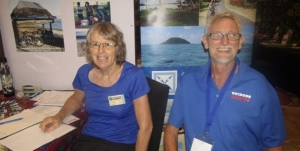 Frances and Ross Bidmead at last week's Samoa Tourism Exchange