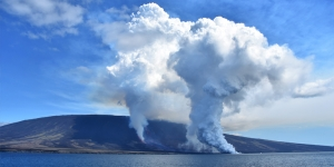 Eruptions on Fernandina Island