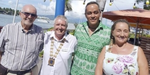 Mike Waters, Skal Nadi treasurer and Secretary; Brad Russell, President; Robert Thompson, acting CEO Tourism Fiji; Beatrice Nast, vice president