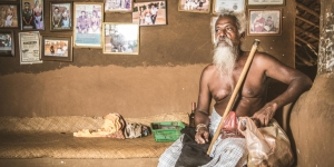 A tribal leader in the Vedda community