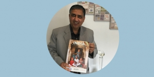 Exotic Holidays managing director Rahul Sharma with the new 2018-2019 brochure for the sub continent