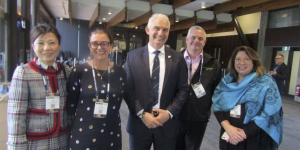 Inbounders thanks the Minister for the new support at TRENZ Hui… Lisa Li, CTS; Anna Black, General Travel, Tourism Minister Stuart Nash; Scott Mehrtens, Leisure Time Travel, Lynda Keene, Tourism Export Council NZ