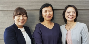 A RWC2019 media famil is being hosted throughout Japan this week by the JNTO in partnership with JTB Communications Design. Hosting the Kiwi contingent in Tokyo were, from left: Yuko Tamaru, JTB; Katsue Takeshima, JNTO; Kimiko Tsukushi, JTB Guide